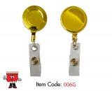 gold badge reel, metal