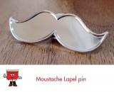 Moustache Lapel Pin