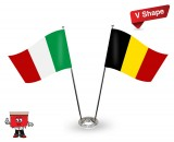 Twin Flag stand V-shape