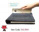 powerbank portfolio notebook 4000mAh, mah. usb wireless