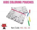kids coloring pouches, children coloring pouches