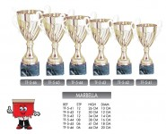 Marbella Gold trophy with marble base trophies