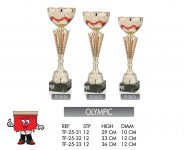 olympic trophy trophies gold red