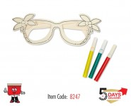 diy, sunglass, wooden, painting, color