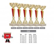 star trophy combination red gold trophies