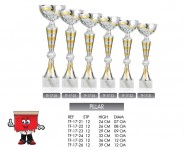pillar silver gold combination trophies trophy