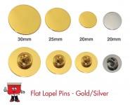 round badge flat lapel pin