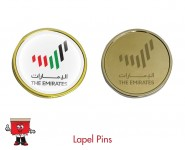 round badge edged lapel pin