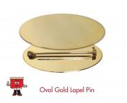 oval shape badge lapel pin laple pin