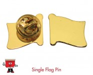 single flag pin gold