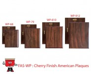 cherry wooden plaque awards