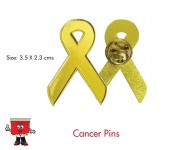 breast cancer pin epoxy gold metal