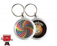 Round Acrylic Key ring