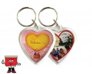 Heart Shape Acrylic Keychain