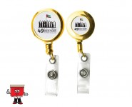 godl metal badge reel
