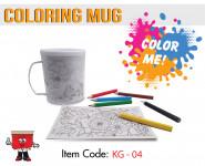 coloring mug, drawing mug , kids, painting