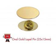 oval shape badge lapel pin laple pin 25 x 15 mm