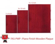 piano finish wooden plaque award