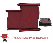 scroll finish wooden plaque award