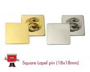 square lapel pin