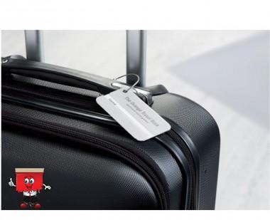 aluminium metal luggage tag holder