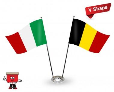 Twin Flag stand V-shape