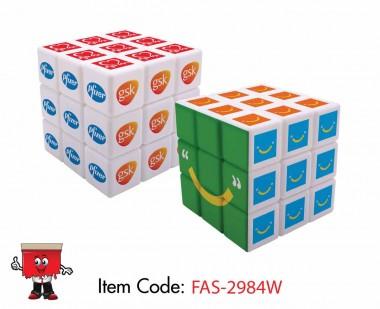 Rubix cube, magic cube full white