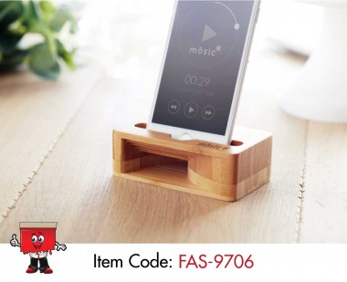 bamboo smartphone stand music amplifier