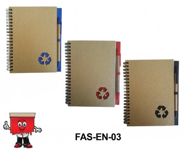 RECYCLE NOTEBOOK WITH PEN