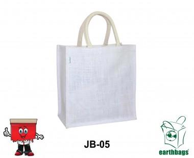 white jute bag