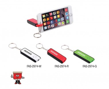 FAS-2974 3-in-1 LED Keychain & Mobile Stand