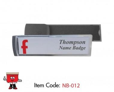 insert Plastic Name Badges, Tie name badge, cuff slider