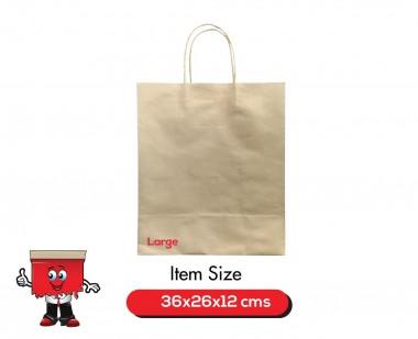 Kraft bag, Paper bag, Natural