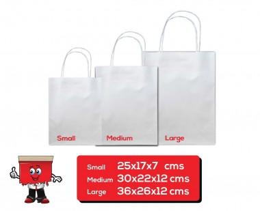 Kraft bag, Paper bag, White