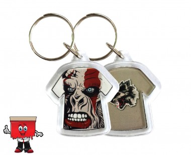 Tshirt shape acrylic keychain