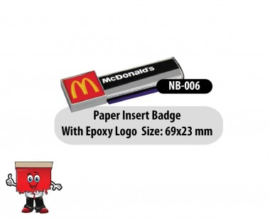 Insert Type Name Badge
