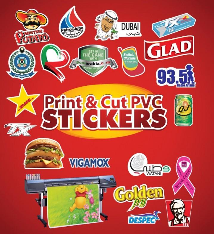 Digital print cut stickers
