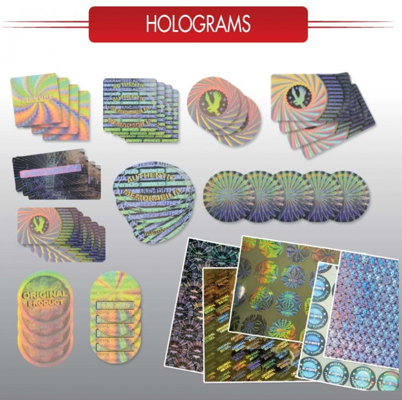 Holographic stickers hologram